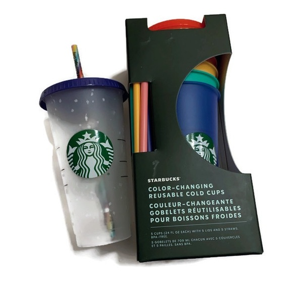 Starbucks Other - COLOR CHANGING CUPS (5) PACK & (1) Confett…